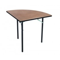 Folding Table - Plywood Stained and Sealed - Vinyl T-Molding Edge - Quarter Round