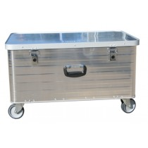 Aluminium Box groß - mit 4 Lenkrollen