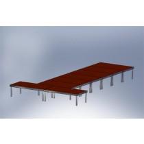 Stage platforms Set 3 outdoor (8 Stage platforms)