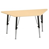Trapezium Table Kids (adjustable in height)