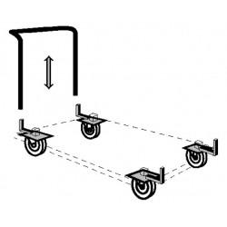 Transportrollen mit Schiebebügel