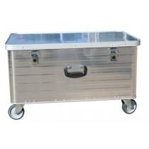 Aluminiumbox Groß mit vier Lenkrollen
