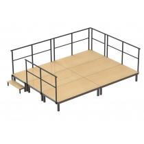 ----  Bühnen-Set 3  ----  ( 6 Bühnenpodeste)  Höhe 40 cm