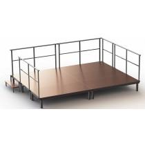 ----  Bühnen-Set 4  ----  (6 Bühnenelemente)  Höhe 40 cm
