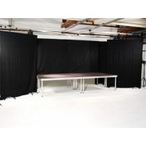 Vorhang-Kulissenständer für Bühnenpodeste