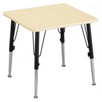 Quadratischer Kindertisch (Höhenverstellbar)