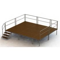 ----  Bühnen-Set 6  ---- ( 10 Bühnenpodeste)   Höhe 20 bis 100 cm