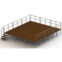 ----  Bühnen-Set 7  ---- ( 18 Bühnenpodeste)   Höhe 20 bis 100 cm