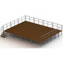 ----  Bühnen-Set 8  ---- ( 24 Bühnenpodeste)   Höhe 20 bis 100 cm