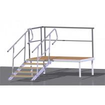 Variable Aufgangstreppe für Bühnen
