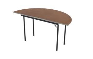 Klapptische - Sperrholz gebeizt und versiegelt - Aluminiumkante - Halbrund