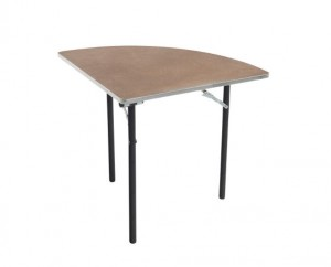 Klapptische - Sperrholz gebeizt und versiegelt - Aluminium Rand - Viertel Runde